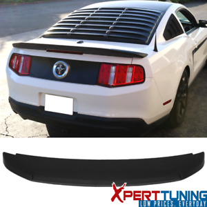 Fits 10 14 Ford Mustang Gt V6 Gt500 Style Unpainted Trunk Spoiler Wing Abs
