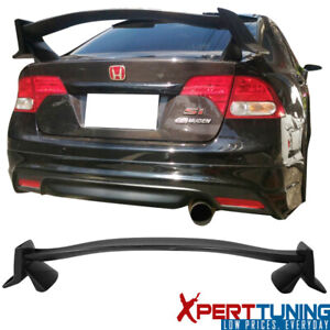 Fits 06 11 Honda Civic 8th Fd1 Fd2 Sedan X Type R Unpainted Abs Trunk Spoiler