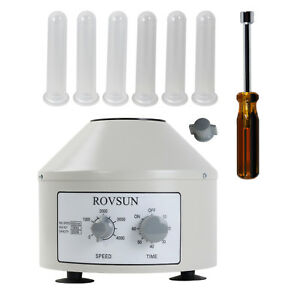 Rovsun 4000rpm Electric Centrifuge Machine 6x20ml 110v Us Plug