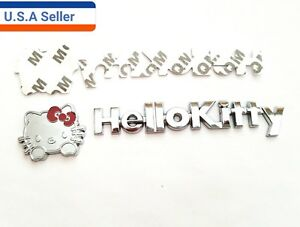 3d Hello Kitty Metal Car Sticker Emblem Decal Motorcycle Badge