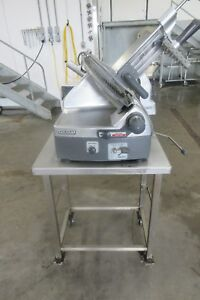 Hobart 2712 Automatic 2 Speed Commercial Slicer With Sharpener And Stainless Ste