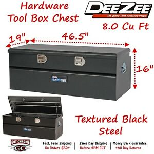 Dz8546sb Dee Zee Steel Truck Tool Box Hardware Series 47 Utility Chest Black