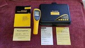 New Fluke 561 Ir Thermometer Temperature Reader With Hard Case Owners Manuals