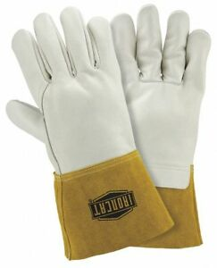 Ironcat Welding Gloves Mig 12 M Pk12 White gold 6010 m