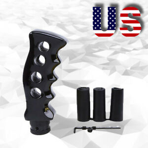 Us Car Gun Grip Gear Manual Shift Knob Shifter Handle Lever Hoses Universal
