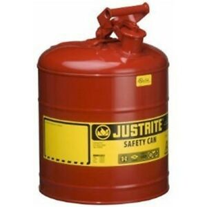 Justrite 7150100 5 Gallon Red Steel Safety Can