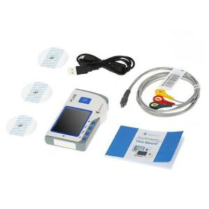 Heal Force Portable Handheld Color Easy Ecg Ekg Heart Monitor Fda Approved E8w3