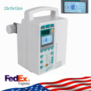 Medical Iv Fluid Infusion Pump Machine With Audible Visual Alarm System Usps Ce