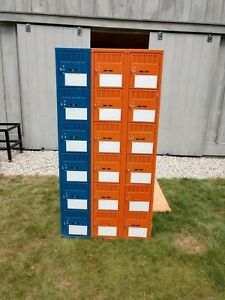 Orange N Blue Steel Gym School Athletic Industrial Metal Employee Lockers 6x3 9