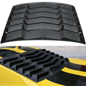 Rear Window Louver Hood Scoop Vent Cover Sun Shade For 2010 2015 Chevy Camaro b