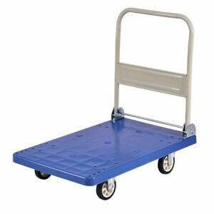 Cart 660lbs Platform Folding Hand Truck Push Foldable Moving Warehouse