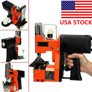 Us 110v Industrial Portable Electric Bag Stitching Closer Seal Sewing Machine