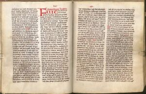 Augsburg Bible 14th Century Facsimile