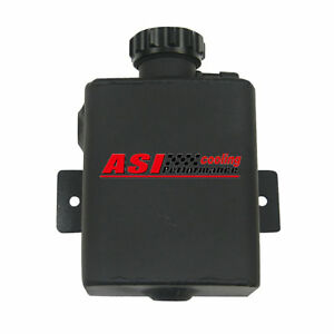 1 25l Aluminum Coolant Radiator Expansion Recovery Overflow Tank Black