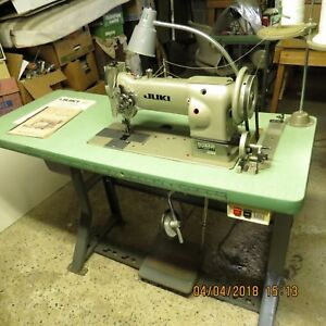 Juki Luh 521 Industrial Dbl Needle Sewing Machine Power Table