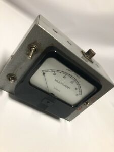 Simpson 0 50 Dc Microamperes 1 1 2 Wide view Panel Meter Mod 1212