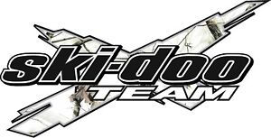 Ski Doo Team 3dx Camo White 12 Vinyl Graphic Snowmobile Decal