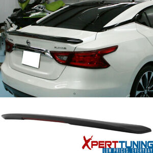 Fits 16 20 Nissan Maxima Sr Sport Abs Trunk Spoiler Wing Led Brake Light