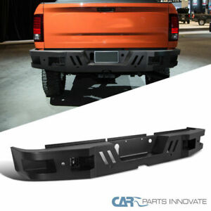 Dodge 10 18 Ram 2500 3500 Pickup Black Steel Rear Bumper Face Bar Guard Step