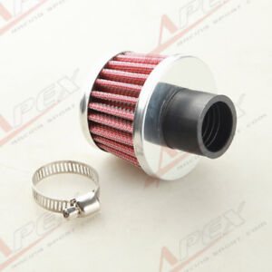 Universal 25mm 1 Car Cold Air Intake Filter Turbo Vent Crankcase Breather Red