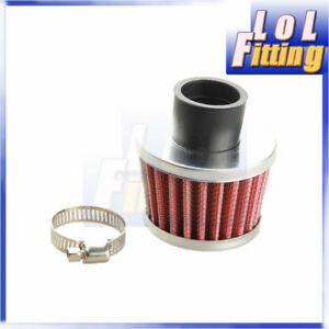 Red Universal Air Breather Intake Filter Turbo Vent Crankcase 25mm 1