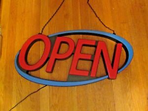 Led Neon Open Sign 30 Superbright Energy Efficient By Premier