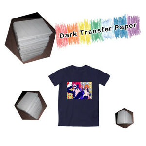 100 Sheets A4 Iron On Transfer Paper Inkjet Dark Color T shirt Diy Paper