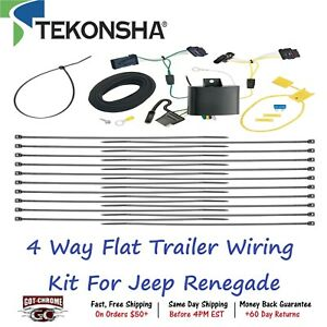 118651 Tekonsha T one 4 Way Flat Trailer Wiring Connector Kit For Jeep Renegade