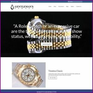 Rolex Watches Shop Online Business Website For Sale Hosting Domain