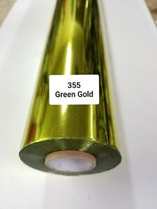 Hot Stamping Foil 355 Green Gold 24 In X 1000 Ft Propiusa