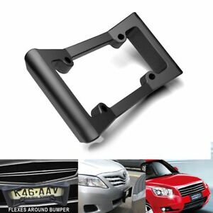 Car Auto Black Front Bumper Guard Eva License Plate Frame Tag Cover Protector Us