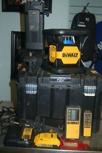 Dewalt Dw079lr 20v Max Red Rotary Laser Level Tough 2000ft Range Self Level