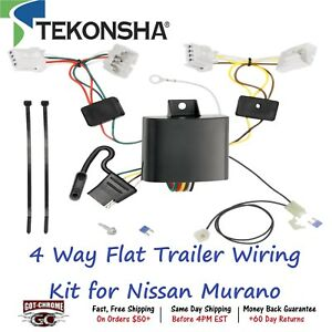 118653 Tekonsha T one 4 Way Flat Trailer Wiring Connector Kit For Nissan Murano