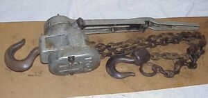 1 5 Ton Columbus Mckinnon Come along Chain Hoist Ratchet Type Lever Model B