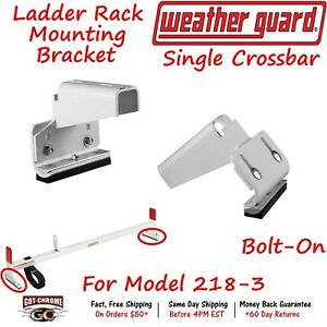 2510f Weather Guard Universal Roof Top Ladder Rack Mounting Brackets Set Of 2