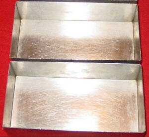 Culinaire Stainless Steel Bread Baking Pan Lot Of 2 Full Size 4 Half Size Pan
