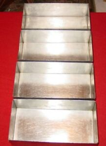 Culinaire Stainless Steel Bread Baking Pan Loaf Pan Sspan 02 Lot Of 4