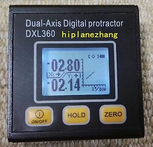 Mini Dual Axis Digital Protractor Inclinometer Angle Meter Li battery