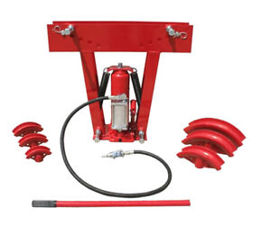 12 Ton Air Manual Hydraulic Pipe Tube Bender Bends Up To 90 Degree