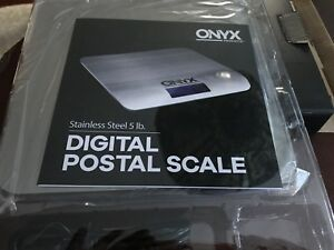 New In Box Onyx Stainless Steel 5 Lb Digital Postal Scale
