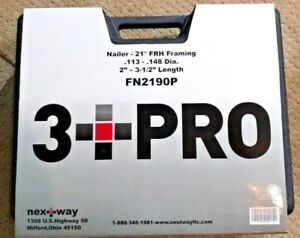 3 Pro Air Nailer 21 Degree Frh Framing Fn2190p New In Protective Case