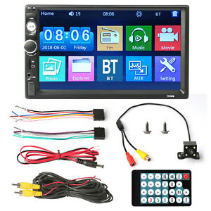 7 Stereo Bluetooth Car Mp5 Player Radio 1080p Touch Screen Fm aux usb tf camera