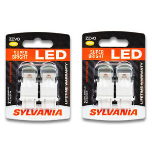 Sylvania Zevo Two 2 Packs 3157aled Led Bulb Turn Signal Parking Za