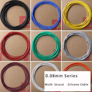2 4 6 7 11 15 17 30awg 0 08mm Ul Strand Silicone Soft Cable 600v 200 Rc Wire