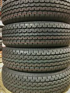 4 New Premium Cargo Max St225 75r15 E 10 Ply Steel Belted Radial Trailer Tires