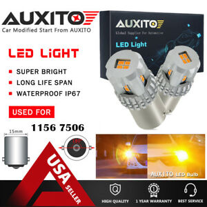 2x Auxito Amber Yellow 1156 Ba15s 7506 Led Turn Signal Light Bulb For Ford Kia A
