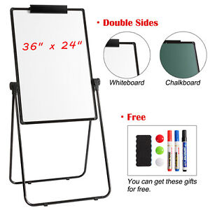 36 24 Large Dry Erase Board Magnetic Whiteboard Easel Portable Folding U Stand