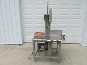2009 Hobart Model 6614 Commercial Stainless Steel Meat Band Saw 3 Ph 3 Hp