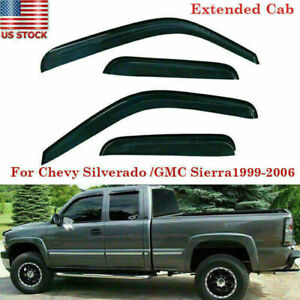 4x Vent Window Rain Deflector Visors For 99 06 Chevy Silverado 1500 Extended Cab