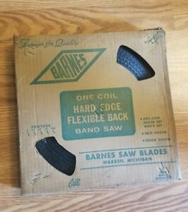Vintage New Old Stock Coil Barnes Band Saw Blade Unopened